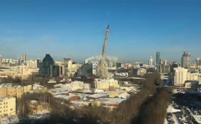 Плановый снос. В Екатеринбурге взорвали телебашню